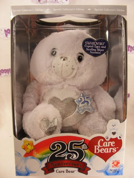 "Special Edition  12"" white/silver care bear"